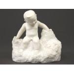 北村四海 大理石彫刻「子供と蛙」