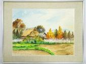 八代亜紀 水彩画「秋」