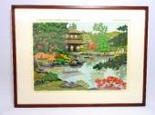 井堂雅夫 『秋陽』 木版画