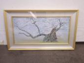 中島千波 手摺木版画 『神代桜』