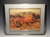 平川敏夫 『木曽路』 日本画