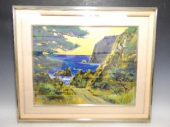 後藤純男 日本画『山陰の海』肉筆