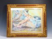 赤石文雄の油彩画『白いコスチューム』