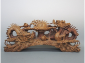 彫刻玉取り双龍