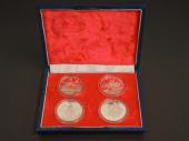 中国傑出歴史人物 紀念幣 銀貨セット 1985年