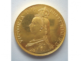 イギリス ヴィクトリア女王 5ポンド金貨