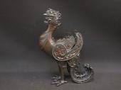 亀文堂 波多野正平 青銅倣古式鳳凰香炉