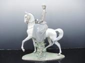 リヤドロ フィギュリン「白い馬の少女」