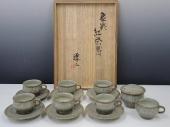 島岡達三 象嵌紅茶器