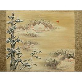 石清水八幡宮雪景図