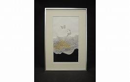 岩見礼花 木版画「水の花A」