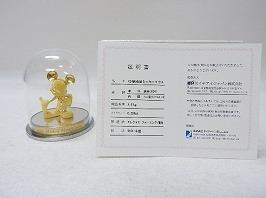 K24純金製ミッキーマウス フィギュア