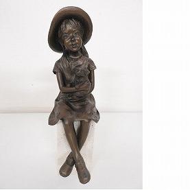大道寺光弘 「小さな友達」ブロンズ像