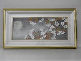 佐々木経二 「月下」 日本画