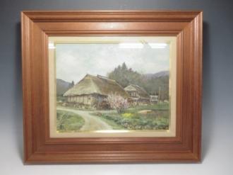 林喜市郎 『福島郡山近郊』 油彩画