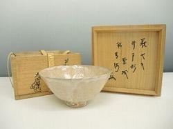 萩焼井戸形茶碗
