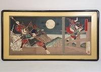 月岡芳年 錦絵「義経記五条橋之図 」木版画