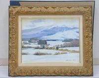 塗師祥一郎 油彩画「雪の高原」