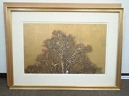 星襄一 木版画「梢」