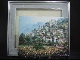人見友紀 油彩画「ビケンザ村」