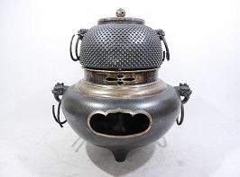純銀製霰文風炉釜