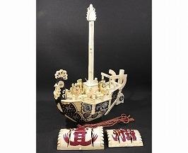 象牙 宝船の置物