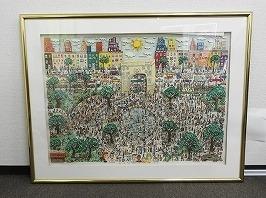 ジェームス・リジィ 3Dアート「Washington ain`t no Square Park」
